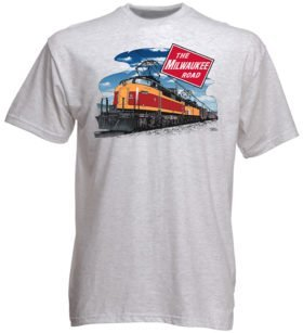 Milwaukee Road Little Joe Authentic Railroad T-Shirt Tee Shirt