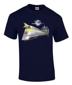 Pioneer Zephyr Authentic Railroad T-Shirt Tee Shirt [10133]
