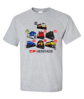 Canadian Pacific Heritage Authentic Railroad T-Shirt Tee Shirt