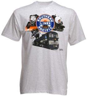 SP Triple Header Authentic Railroad T-Shirt Tee Shirt