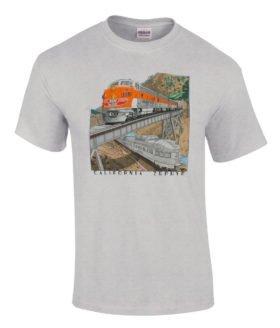 Western Pacific California Zephyr Authentic Railroad Train T-Shirt Tee Shirt [128]
