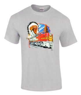 AT&SF (Santa Fe) Alco PA-1 Authentic Railroad T-Shirt [143]