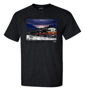 Black Widows on the Overland Authentic Railroad T-Shirt