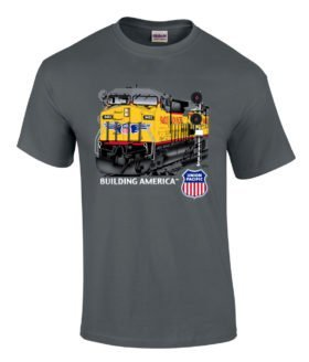 Union Pacific Building America C44-9W Authentic Railroad T-Shirt