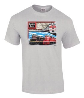 Chicago, Burlington & Quincy Authentic Railroad T-Shirt Tee Shirt