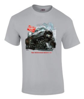Milwaukee Road 261 Authentic Railroad T-Shirt Tee Shirt