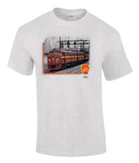 Pennsylvania RR E Units at 39th Street Authentic Railroad T-Shirt Tee Shirt
