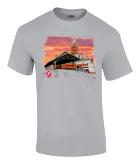 Milwaukee Hiawatha Sunset Authentic Railroad T-Shirt
