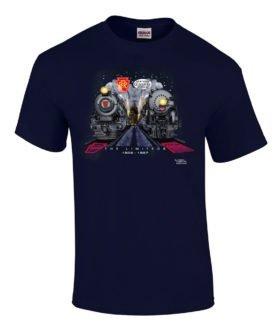 Broadway Twentieth Century Limiteds at Night Authentic Railroad T-Shirt