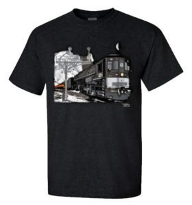 Southern Pacific Cab Forward Doubleheader Authentic Railroad T-Shirt