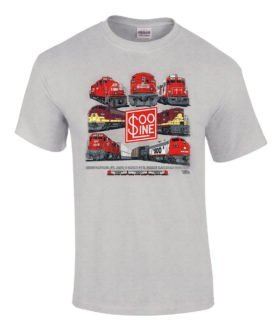 Soo Line Collage Soo Line Collage Authentic Railroad T-Shirt