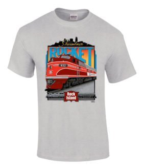 Rock Island Rocket Authentic Railroad T-Shirt Tee Shirt