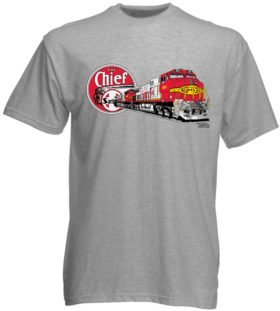 Santa Fe Warbonnet GE C44-9W Authentic Railroad T-Shirt Tee Shirt