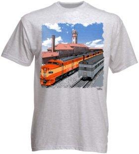 Go By Train Portland Authentic Railroad T-Shirt Tee Shirt