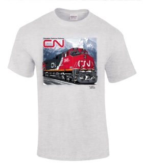Canadian National C44-9W Authentic Railroad T-Shirt Tee Shirt
