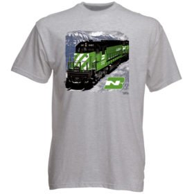 Burlington Northern in Montana Authentic Railroad T-Shirt Tee Shirt
