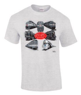 New York Central Collage Authentic Railroad T-Shirt [86]