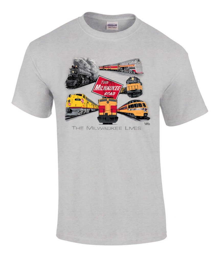 Milwaukee Road Collage Authentic Railroad T-Shirt [88]