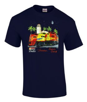 Streamliners at Los Angeles Authentic Railroad T-Shirt