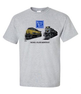 Nickel Plate Heritage Authentic Railroad T-Shirt Tee Shirt [93]