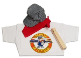 hat scarf whistle and shirt Lil Engineer Bundle