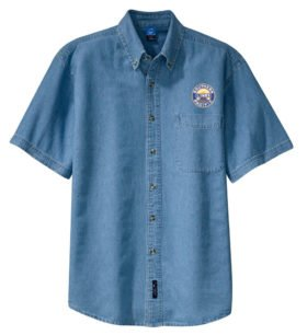 Southern Pacific Sunset Logo Short Sleeve Embroidered Denim [den02SS]