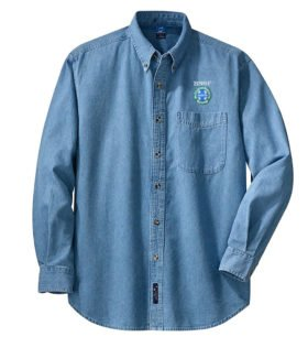 Burlington Northern Santa Fe Intermodal Logo Long Sleeve Embroidered Denim [den03LS]