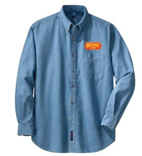 Chicago North Shore and Milwaukee Railroad Long Sleeve Embroidered Denim [den114LS]