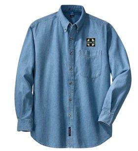 AT&SF Santa Fe Black Cross Long Sleeve Embroidered Denim [den120LS]