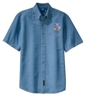 Union Pacific Overland Route Short Sleeve Embroidered Denim [den123SS]