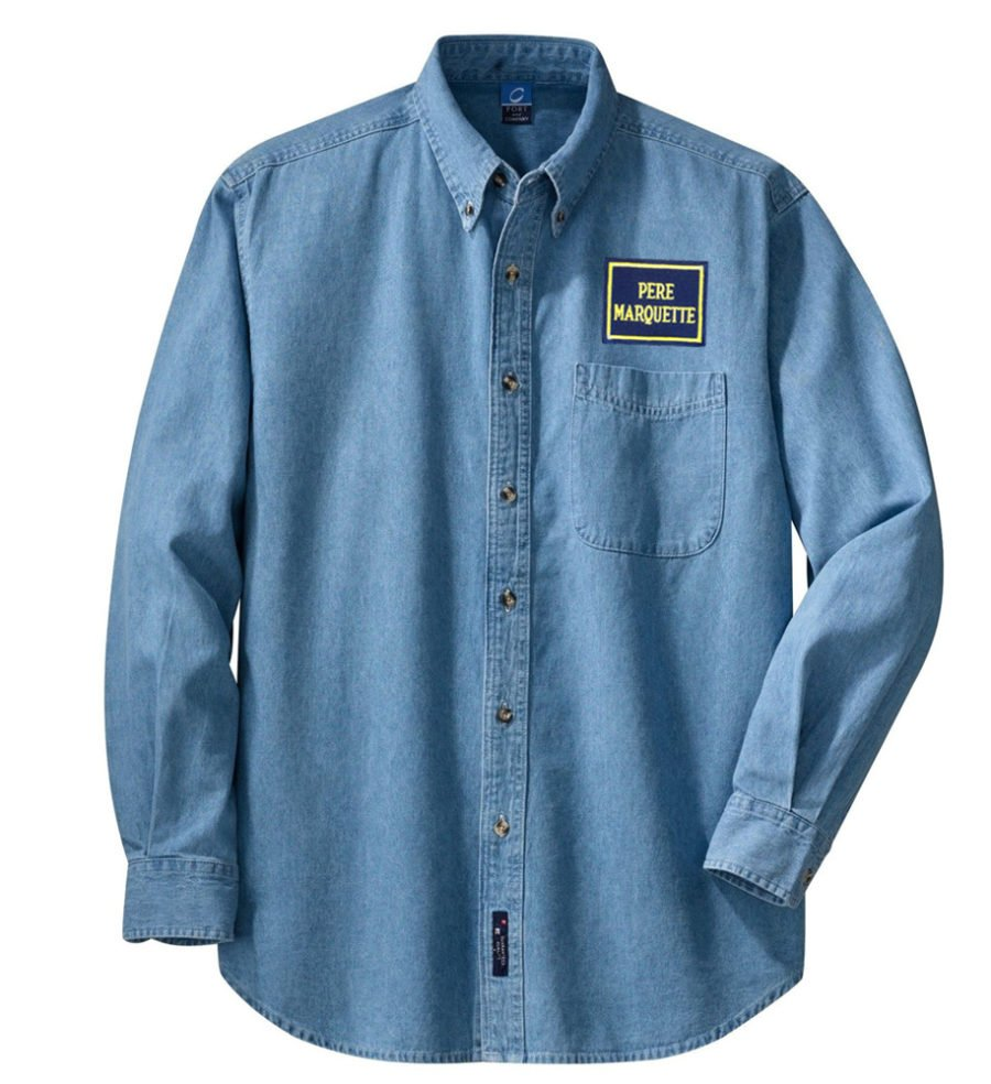 Pere Marquette Long Sleeve Embroidered Denim [den127LS]