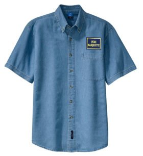 Pere Marquette Short Sleeve Embroidered Denim [den127SS]