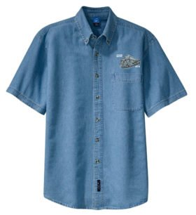 Union Pacific Big Boy 4014 Short Sleeve Embroidered Denim [den18SS]