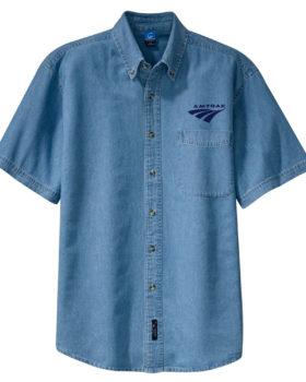 Amtrak Travelmark Short Sleeve Embroidered Denim [den252SS]