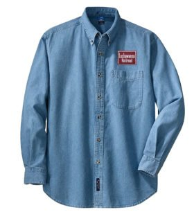 Delaware, Lackawanna & Western Long Sleeve Embroidered Denim [den31LS]
