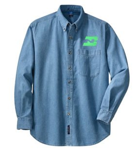 Burlington Northern Long Sleeve Embroidered Denim [den46LS]