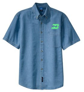 Burlington Northern Short Sleeve Embroidered Denim [den46SS]