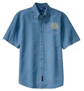 New York, New Haven and Hartford Railroad Short Sleeve Embroidered Denim [den57SS]
