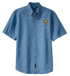 Seaboard Coast Line Railroad Short Sleeve Embroidered Denim [den79SS]