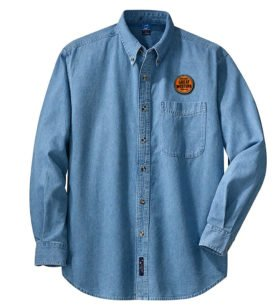 Chicago Great Western Railway Long Sleeve Embroidered Denim [den82LS]
