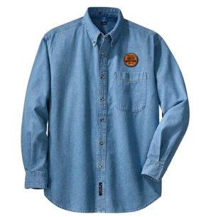 Chicago Great Western Railway Long Sleeve Embroidered Denim [den82LS]