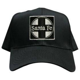 AT&SF Santa Fe Black Cross Embroidered Hat [hat120]