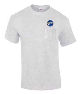 Williamette Logging Locomotives Embroidered Pocket Tee [p109]
