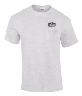 New York Central White Logo Embroidered Pocket Tee [p28]