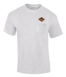 Reading Lines Railroad Embroidered Pocket Tee [p40]