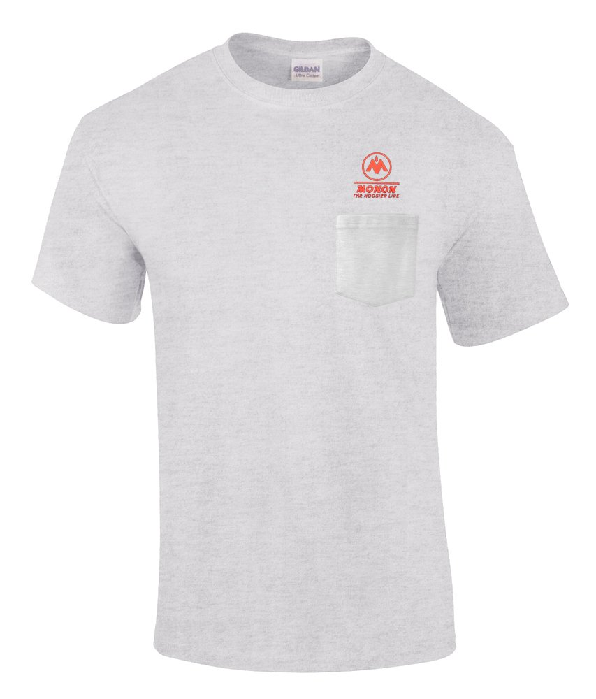 den56SS Daylight Sales Monon Railroad Short Sleeve Embroidered Denim