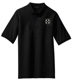 Green Bay Route Logo Embroidered Polo  [117]