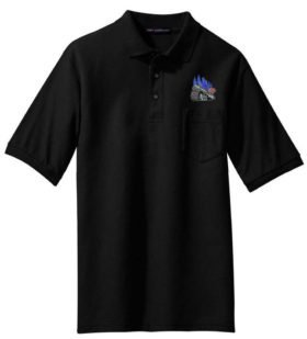 B&M Minuteman Logo Embroidered Polo  [65]
