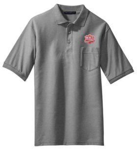 Texas and Pacific Embroidered Polo White Adult 2XL [69]