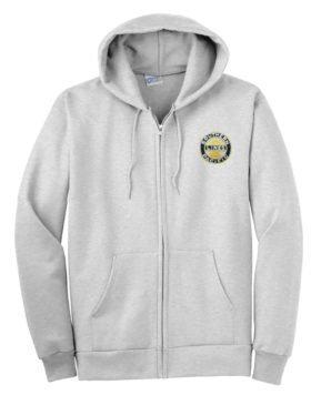 Southern Pacific Sunset Logo Zippered Hoodie Sweatshirt [02]